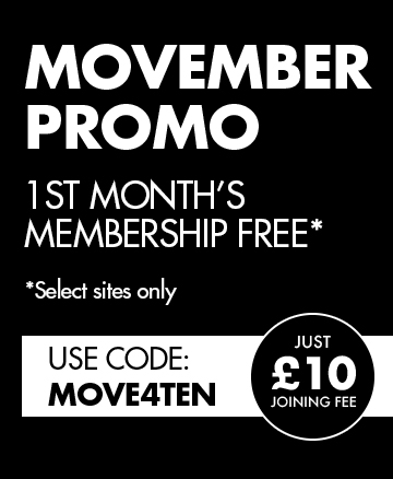 Get your first month free and only £10 joining fee with code: MOVE4TEN